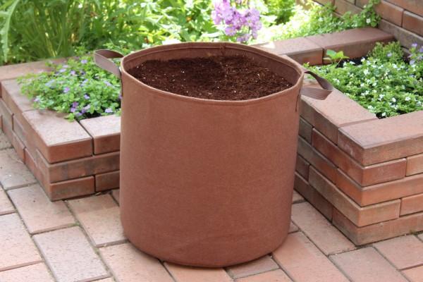 Pflanzsäcke in Braun von 7,5 - 100 Liter