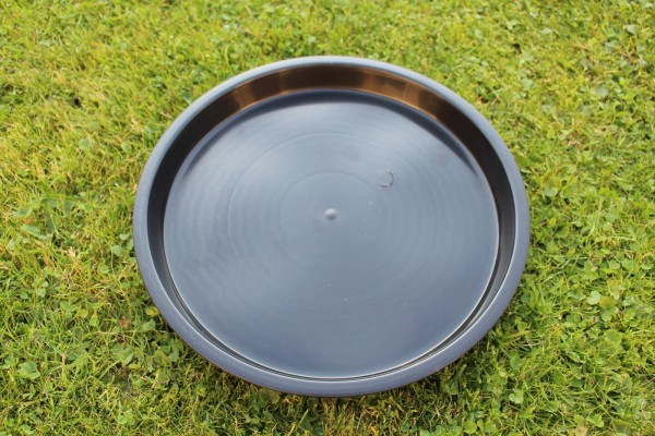 Untersetzer rund - Schwarz - 25 cm Ø