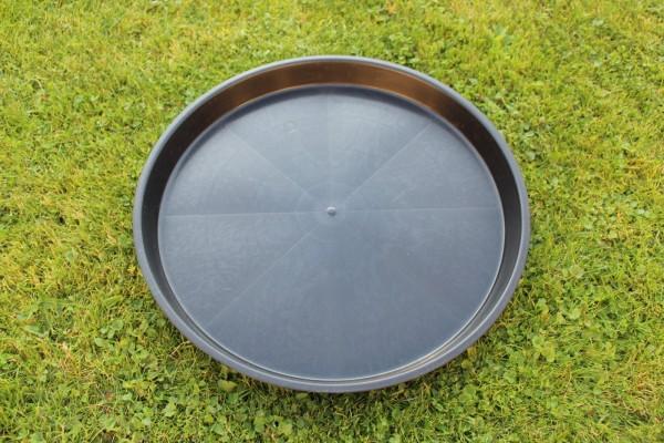 Untersetzer rund - Schwarz - 35 cm Ø